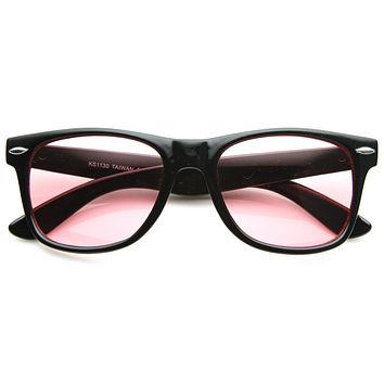 Go Pink! Limited Edition Color Tinted Lens Horned Rim Sunglasses 8803