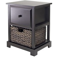 Winsome Casablanca Accent Table with Folding Basket