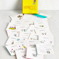 Sayings Definitive Delight Notecard Set by Chronicle Books from ModCloth