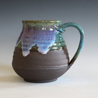 LARGE Pottery Mug, 22 oz,  unique coffee mug, handmade ceramic cup, handthrown mug, stoneware mug, wheel thrown pottery mug, ceramics
