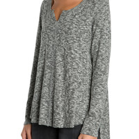 The Gray V-Neck Top-FINAL SALE