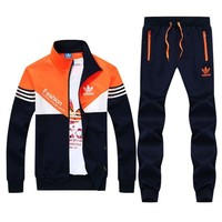 Adidas Tide brand two-piece trendy cardigan jacket coat trousers fashion suits F