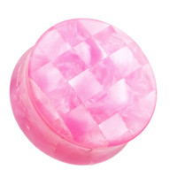 Marbled Checker Double Flared Ear Gauge Plug