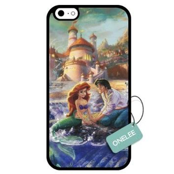 Onelee - Customized Disney Princess The Little Mermaid TPU Case Cover for Apple iPhone 6 - Black 05