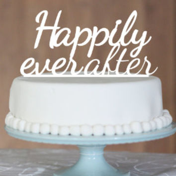 Customised wedding cake toppers, wedding cake topper, engagement cake topper, happily ever after
