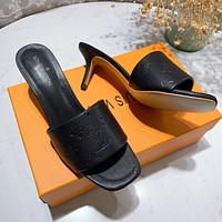 LV new small square slippers