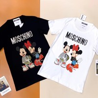 Moschino Womens T-shirt with crystals