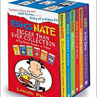 Big Nate Series Collection Lincoln Peirce 6 Books Box Set Gift Pack (Big Nate on a Roll, Goes for Broke, the Boy with the Biggest Head in the World, Strikes Again, Flips Out, in the Zone)