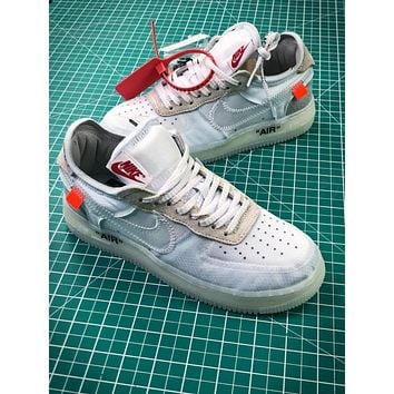 Off White X Nike Air Force 1 Low Premium White Sport Shoes