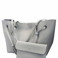 2 Pcs Tote Match Clutch Bags Set