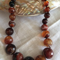 Carnelian beads hand made necklace beautiful gem stones gift original design excellent Mother's Day Easter birthday gift beadwork necklace