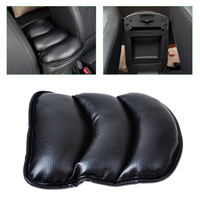 Car Covers Car Seat Cover Soft Leather Auto Center Armrest Console Box Armrest Seat Protective Pad Mat High Quality