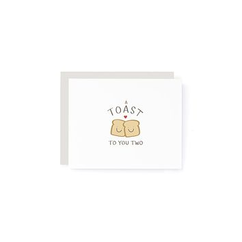 Toast to You Two Card