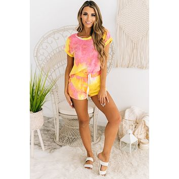 Home Bound Knit Tie Dye Set (Pink)