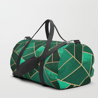 Emerald and Copper Duffle Bag by elisabethfredriksson