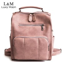 Womens PU Leather Backpack