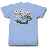 Blue and Orange Back To The Future Tee Shirt