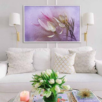 "Floral Fine Art ""Lilac Dreams""  Wall Print on WaterColor Paper.Flower Photo Art Home Decor. Violet Botanical Art Photography Abstract"