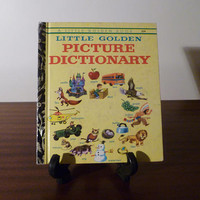 "Vintage 1973 Book ""Little Golden Picture Dictionary"" - A little Golden Book / Kids Book / Great Condition / Childs First Dictionary"