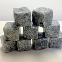 Whiskey On The Rocks-Premium Chilling Stones- Great for Sipping and Chilling Whiskey in Whiskey Glass, Made of 100% Soapstone, 9 Stones Per Gift Set Black Carrying Bag Included (Value Set)
