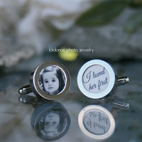 Custom Photo Cufflinks - Photo Cufflinks - Father of the Bride Gift - Father of the Groom Gift - Memory Keepsake for Dad - Picture Cufflink