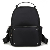 Comfort Stylish On Sale College Back To School Hot Deal Korean Rivet Nylon Bags Casual Backpack [6542312899]