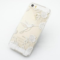 Plastic Case Cover for iPhone 5 5S 5C 6 6Plus (Pick One) Henna Vintage Hummingbird floral flower bird japanese cherry blossom roses