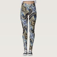 Bluetan Swirl Leggings