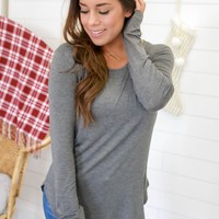 The Perfect Long Sleeve Top - Charcoal