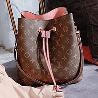 Louis Vuitton LV Retro Women Leather Bucket Bag Handbag Shoulder Bag Crossbody Satchel