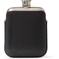PRODUCT - Paul Smith Shoes & Accessories - Steel Hip Flask with Leather Case - 372175 | MR PORTER