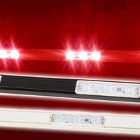 Storefront LED track with Red T5630 Super Bright LED Light