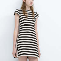 Striped dress with flared skirt