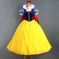 Top Quality Custom made Snow White Princess Dress Cosplay Costume Halloween Party Adult Women Or Girl . = 1932707908