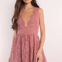 Lauren Scallop Skater Dress