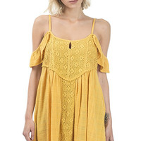 Sammy Boho Dress - Gold Dust