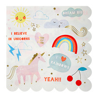 Paper Napkins / 1st Birthday / Baby Shower /UnicornParty / Pink / Birthday Party Decor / Party Decor / Birthday Party / Gold