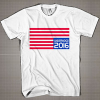 Underwood 2016 Flag  Mens and Women T-Shirt Available Color Black And White
