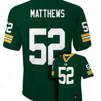 Clay Matthews Green Bay Packers #52 NFL Youth Green Jersey