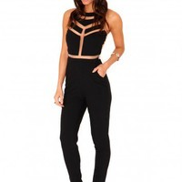 Missguided - Milenka Mesh Panel Jumpsuit