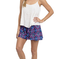 Festival Of Color Printed Flare Soft Shorts