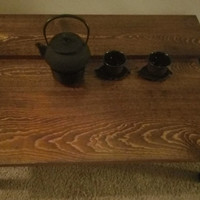 Stylish Japanese Chabu-dai Table with Recessed Center - pictured piece is ready to ship - several sizes available and made to order