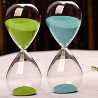 Classic Sand Glass Sandglass Hourglass Timer Home Tabletop Decor 5 Minute #75130