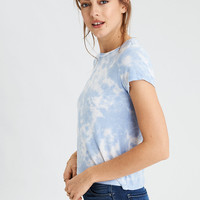 AE Soft & Sexy Washed Fitted Classic T-Shirt, Blue