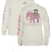"Simply Southern "" Be-you-tiful"" Long Sleeve Tee-Cream"