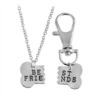 "Dog Bone ""Best Friends"" Charm Necklace and Collar"