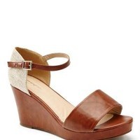 Plus Size Wide Width Straw Back Wedge Sandals | Penningtons