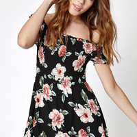 Kendall and Kylie Off-The-Shoulder Smocked Dress at PacSun.com