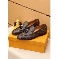 LV Louis Vuitton BEST QUALITY Men's Business Recreation Leather Shoes