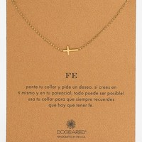 Women's Dogeared 'Reminder - Fe' Sideways Cross Pendant Necklace